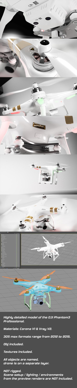 3DOcean DJI Phantom3 Professional 11563909