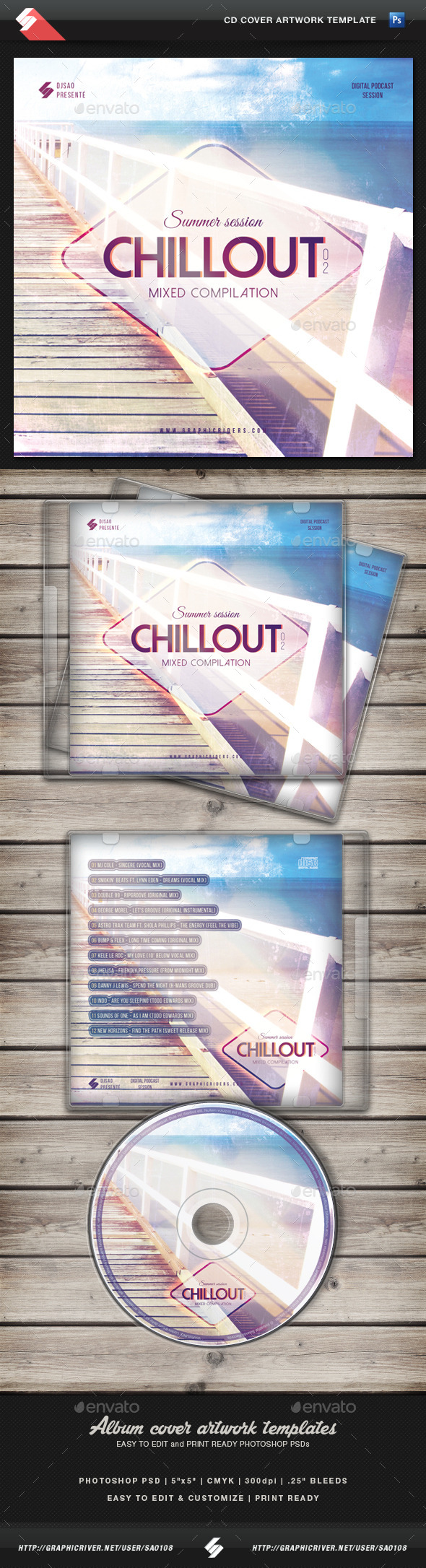 GraphicRiver Summer Chillout Vol.2 CD Cover Template 11564385