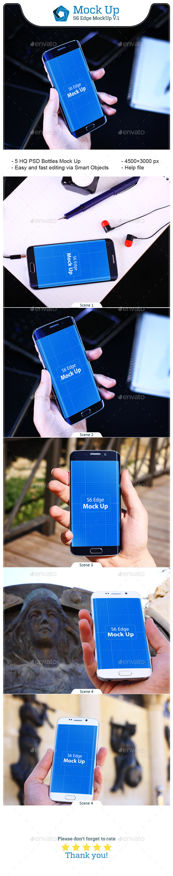 GraphicRiver S6 Edge MockUp V.1 11564387