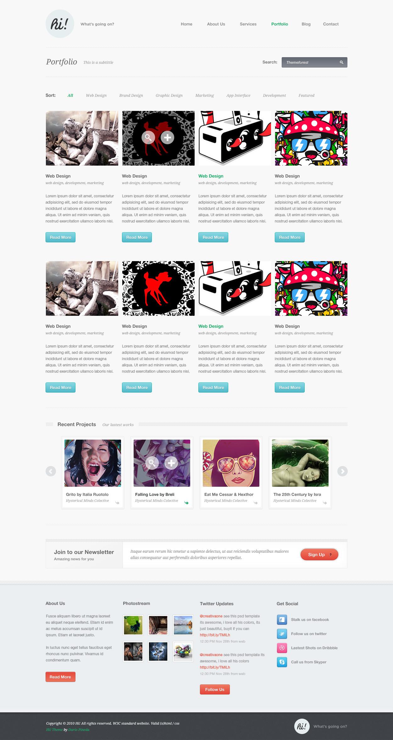 Hi!: Creative Portfolio Template