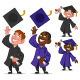 Set of Graduates - GraphicRiver Item for Sale
