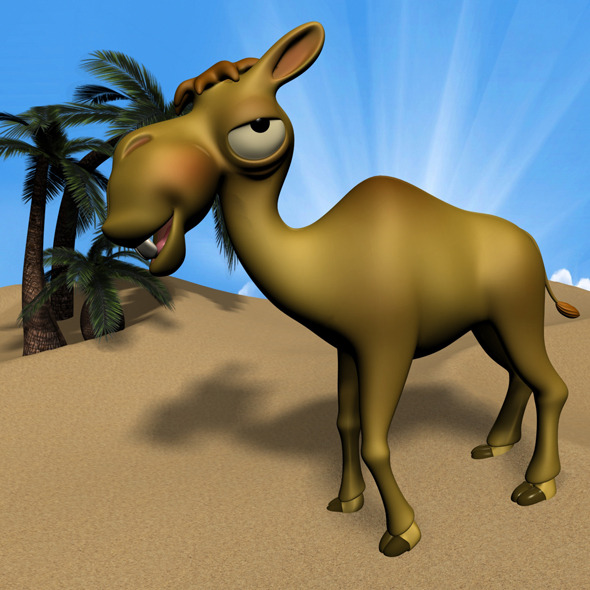 3DOcean Cartoon Camel RIGGED 11564975