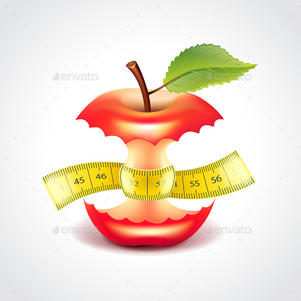 GraphicRiver Apple Stub With Measuring Tape 11565077