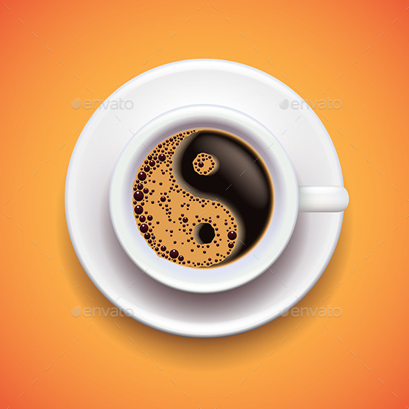 GraphicRiver Yin-Yang Coffee Cup 11565081