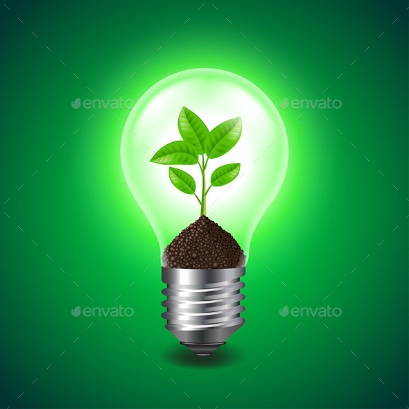 GraphicRiver Growing Sprout Inside a Light Bulb 11565102