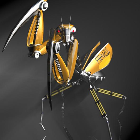 3DOcean Praying Mantis Robot RIGGED 11565168