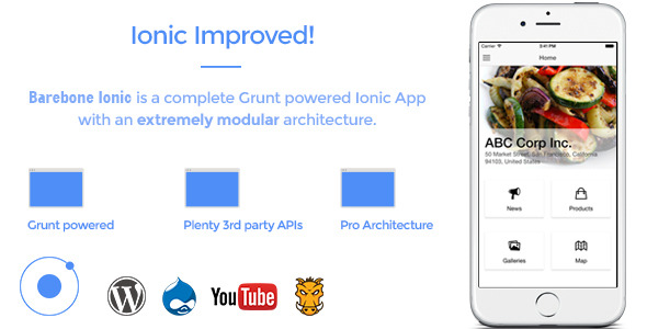 CodeCanyon Barebone Ionic Full Application 11565196