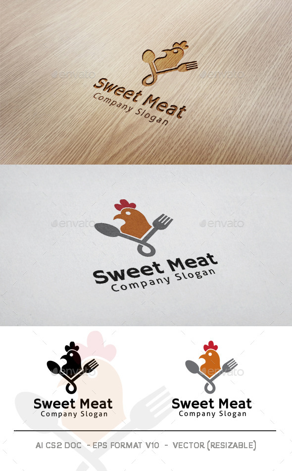 GraphicRiver Sweet Meat Logo 11565307