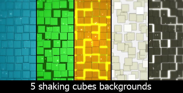 After Effects Project - VideoHive Shaking Cubes Background 1161715