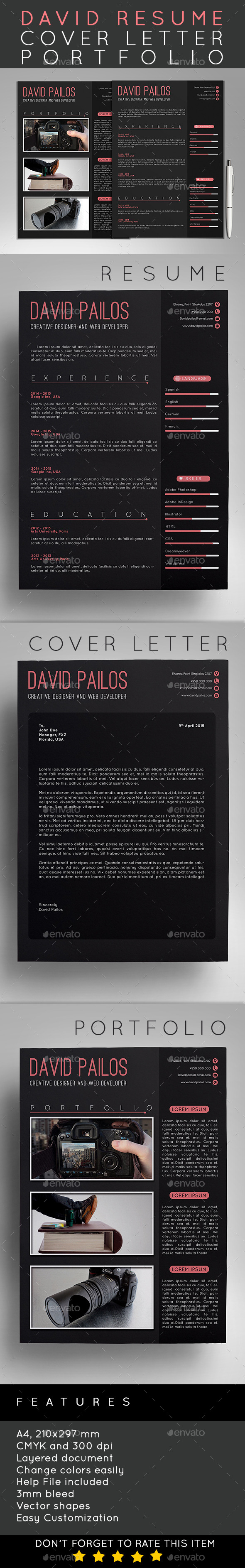GraphicRiver David Resume 11565603