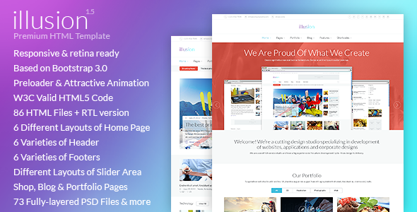 illusion - Premium Multipurpose HTML Template - Corporate Site Templates