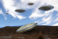 UFO and mountain - PhotoDune Item for Sale