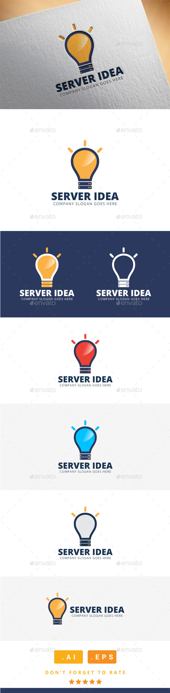 GraphicRiver Server Idea Logo 11565759