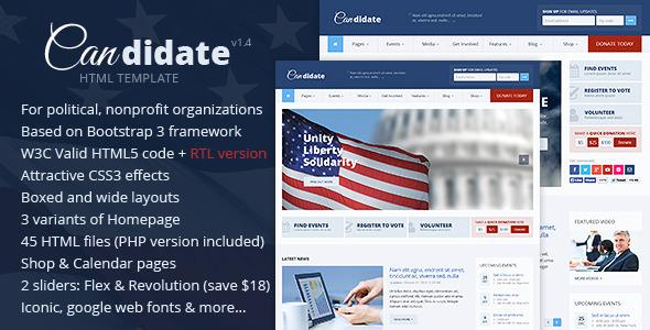 Candidate - Political/Nonprofit HTML Theme - Political Nonprofit