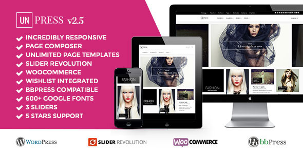 unPress Magazine - Elegant & Minimalistic - Woocommerce - News / Editorial Blog / Magazine