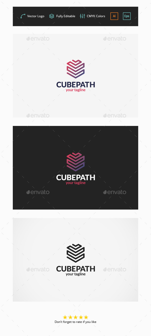 GraphicRiver Cube Path Logo 11566004