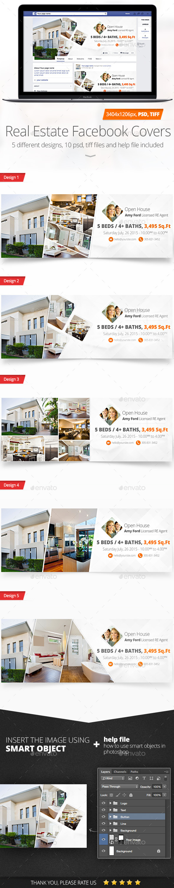 GraphicRiver Real Estate Facebook Covers 11566012