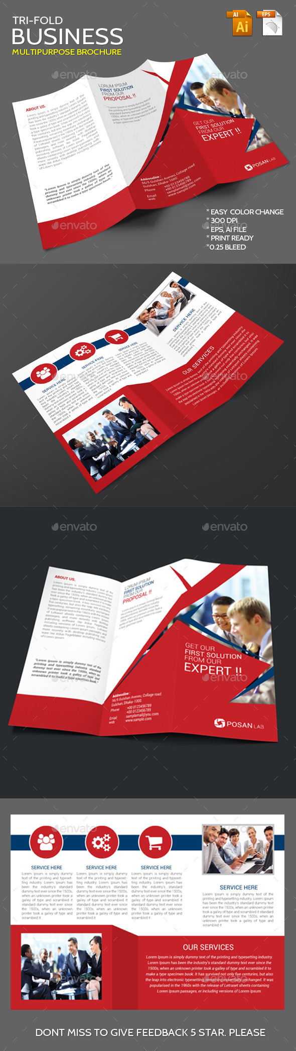 GraphicRiver Business Corporate Trifold Brochure 11449145