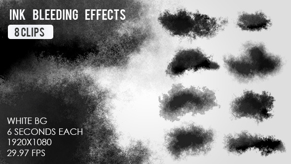 VideoHive Ink Bleed Effects 8 Clips 11566038
