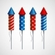 Set of Pyrotechnic Rockets - GraphicRiver Item for Sale