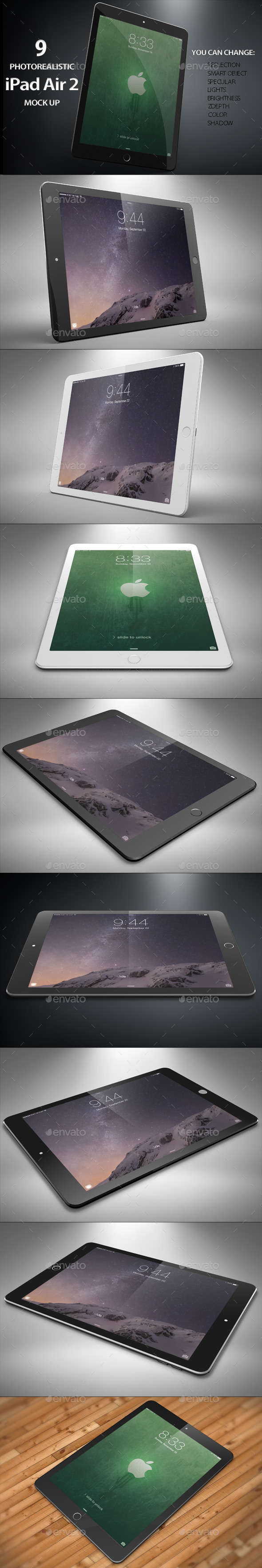GraphicRiver iTable Air 2 Mock Up 11566121