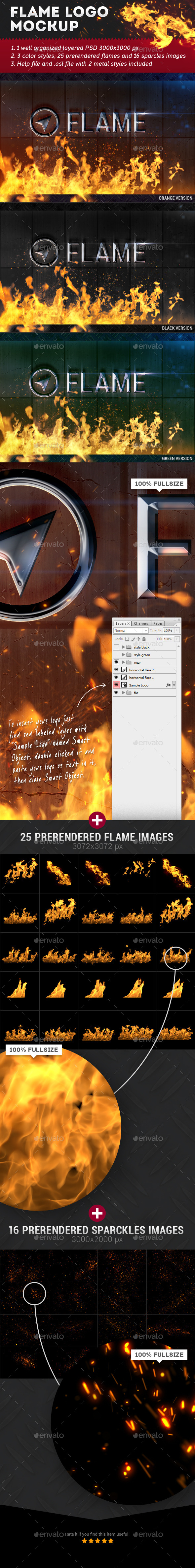 GraphicRiver Flame Logo Mockup 11566200