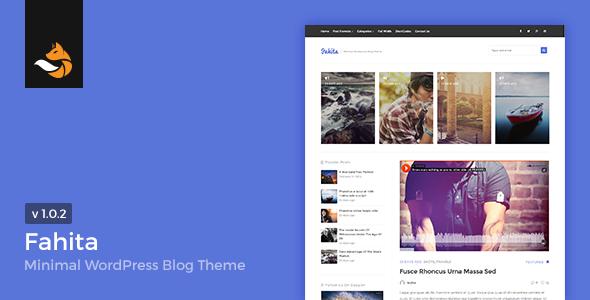 Fahita - Minimal WordPress Blog Theme