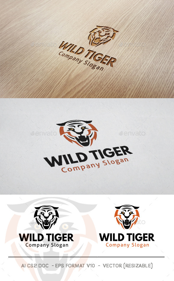 GraphicRiver Wild Tiger Logo 11566293