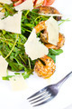 shrimp salad and greens on a white background - PhotoDune Item for Sale