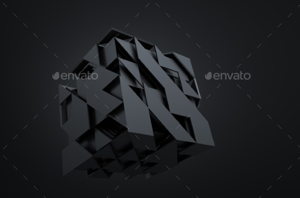 GraphicRiver Abstract 3D Rendering Of Flying Cubes 11566666