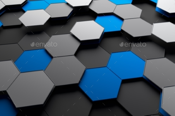 GraphicRiver Abstract 3D Rendering Of Surface With Hexagons 11566667