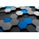 Abstract 3D Rendering Of Surface With Hexagons - GraphicRiver Item for Sale