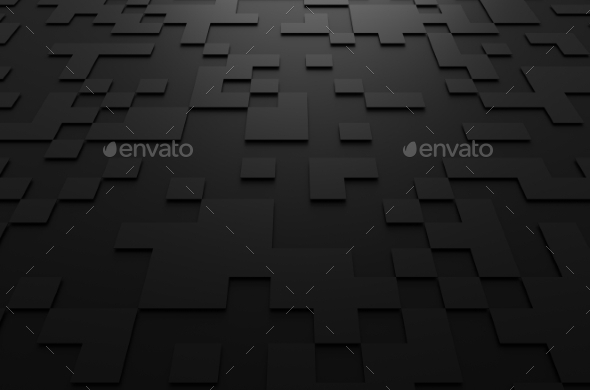 GraphicRiver 3D Rendering Of Futuristic Surface With Squares 11566669