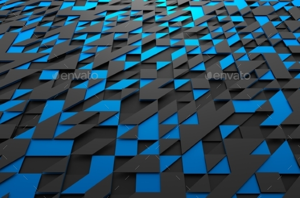 GraphicRiver Abstract Futuristic Surface With Triangles 11566672