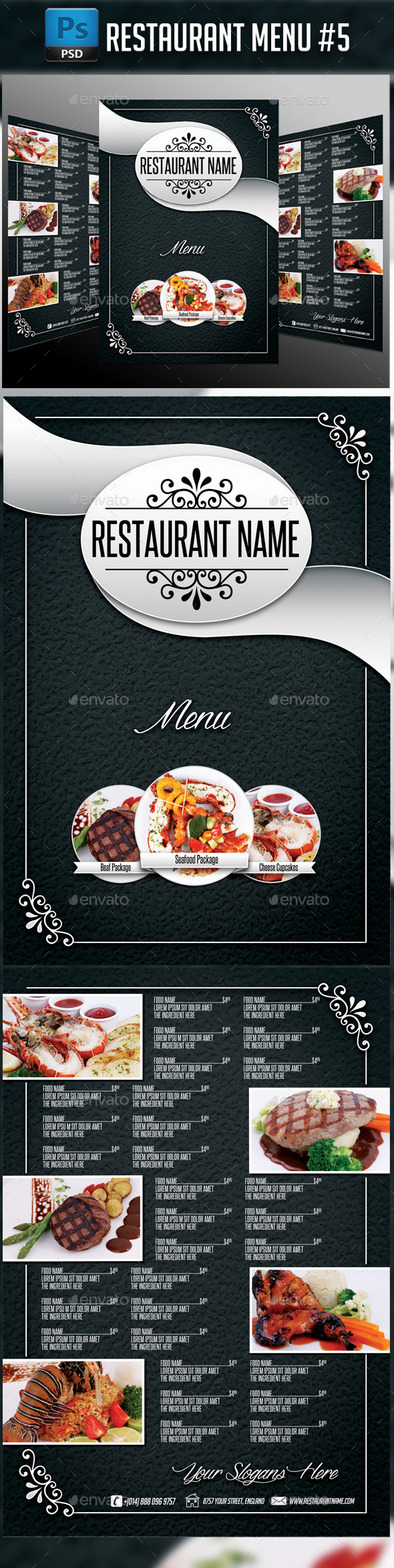 GraphicRiver Restaurant Menu #5 11405343