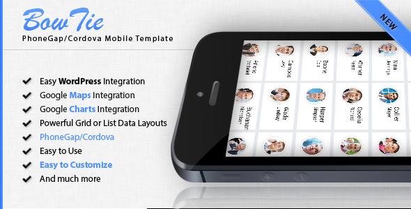 CodeCanyon BowTie Phongeap Cordova Mobile App Template 11569225