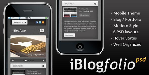 iBlogfolio PSD