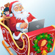 Santa in Sleigh - GraphicRiver Item for Sale