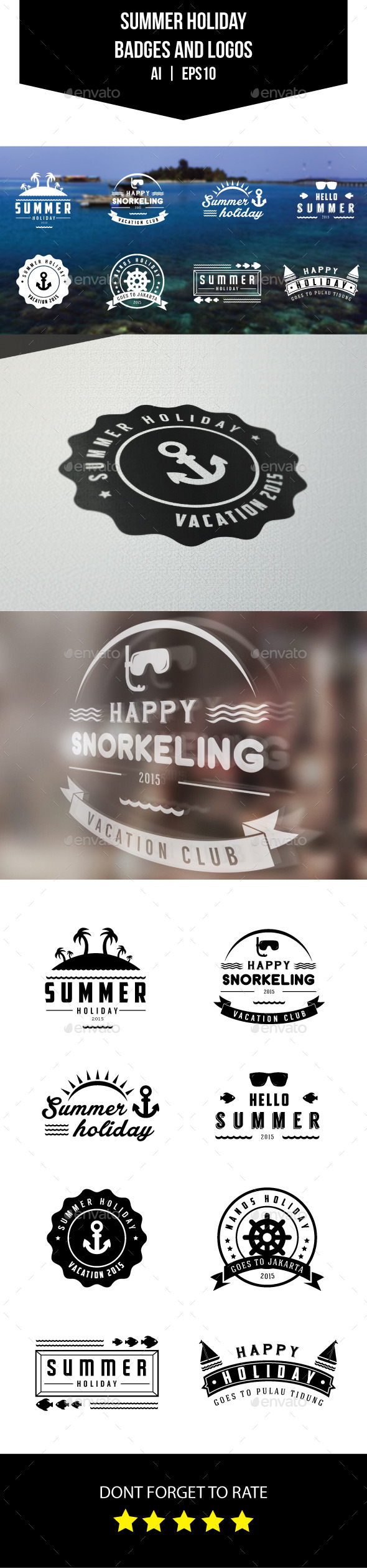 GraphicRiver Summer Holiday Badges and Logos 11569393