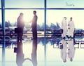Business People Corporate Handshake Airport Concept - PhotoDune Item for Sale