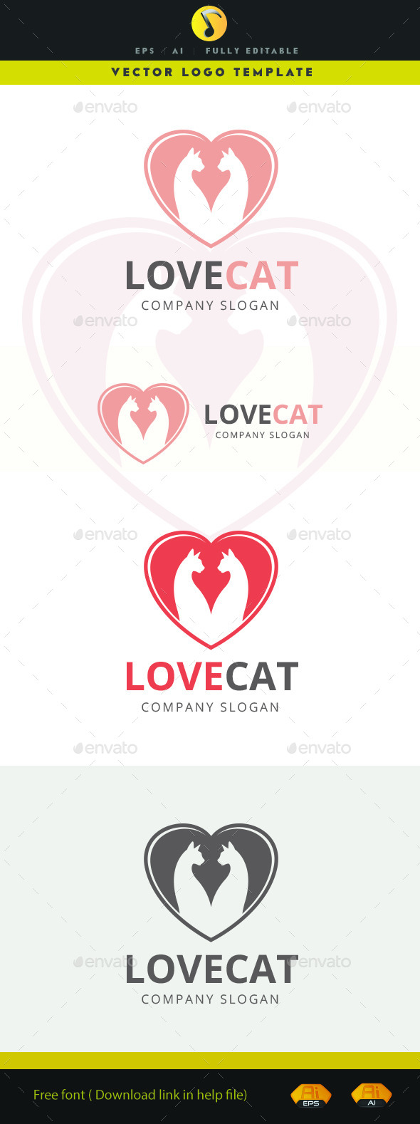 GraphicRiver Love Cat 11570109