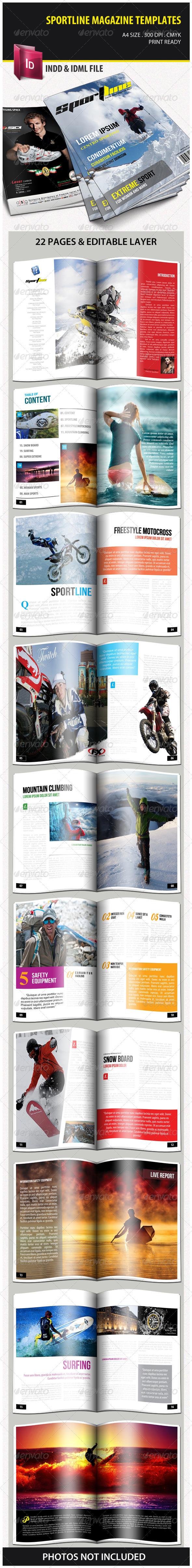 Sportline Magazine Templates - Magazines Print Templates