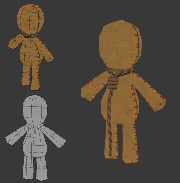 3DOcean Low Poly Rag Doll 1162444