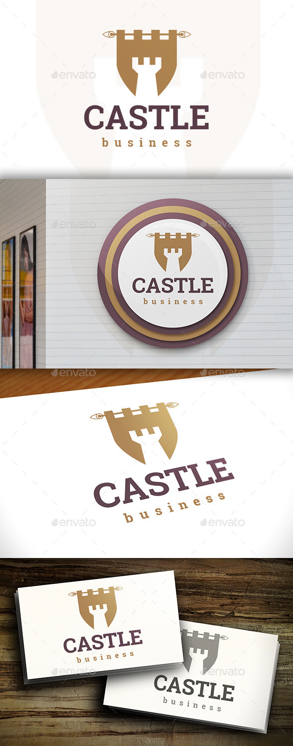 GraphicRiver Castle Flag Logo 11570655