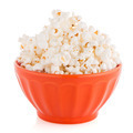 Popcorn in a orange bowl - PhotoDune Item for Sale