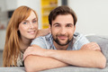 Attractive friendly couple relaxing at home - PhotoDune Item for Sale