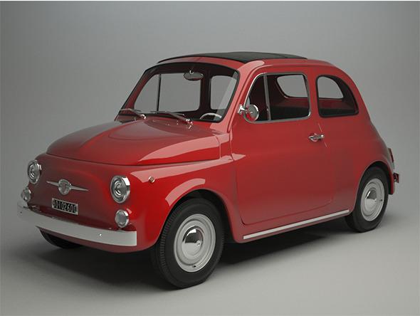 3DOcean Fiat 500 F 1965 11571093