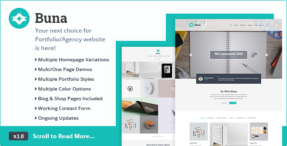 ThemeForest Buna Your Next Agency Portfolio HTML Template 11571099