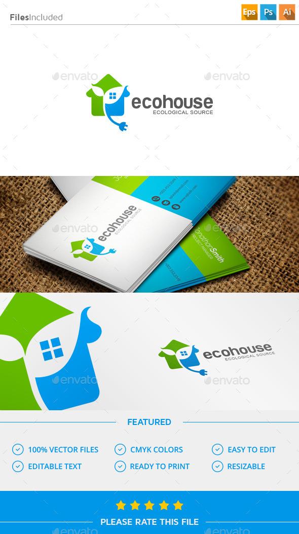 GraphicRiver Eco House Logo 11571477