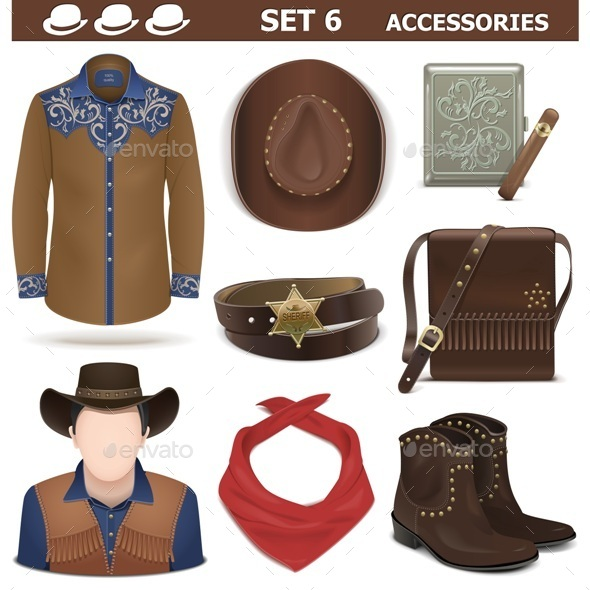 GraphicRiver Male Accessories Set 6 11571613